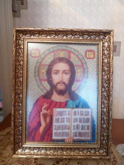 Продам Икона вышитая бисером в Тюмени.